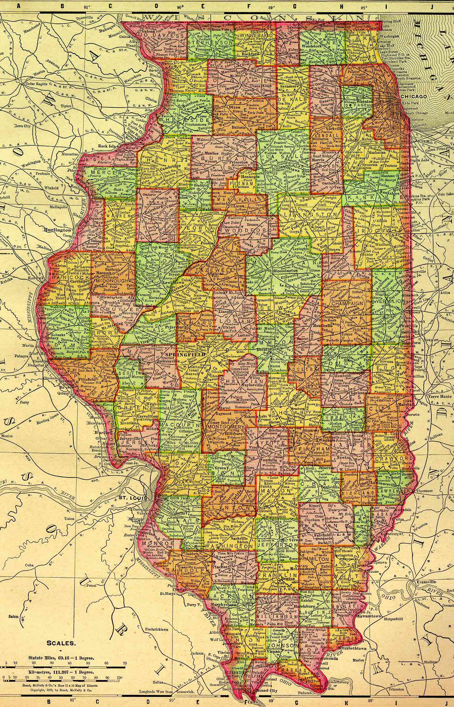 15. Illinois Counties 1895