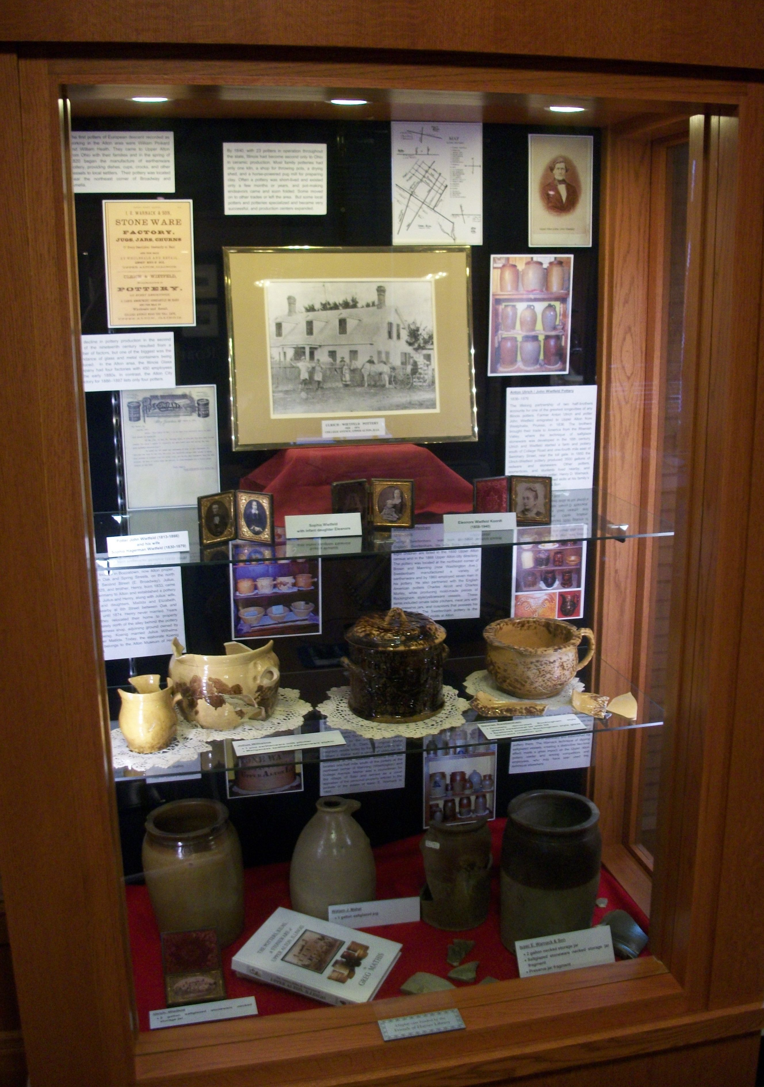 Alton pottery display